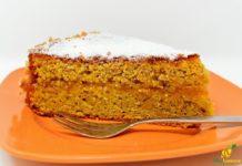 torta di carote al limone